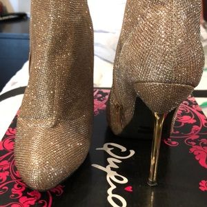 Champagne glitter booties